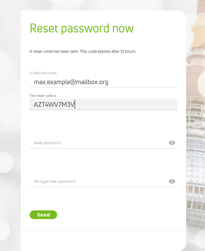 Password Reset now